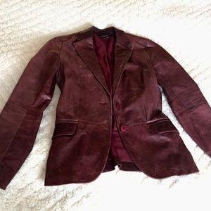 Zara Leather Blazer